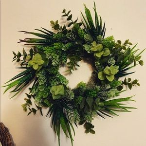 "Handmade 6"" wreath"